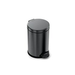 Simplehuman - kosz na śmieci 4,50 l, pedałowy - czarny - czarny