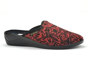 Pantofle pełne adanex 26065 czerwony