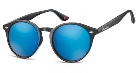 Okulary okragle czarne lenonki lustrzane ms20a