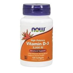 Now vitamin d3 2000iu - 120softgels