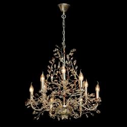 Kwiatowy żyrandol z 9 ramionami z powłoką ze złota i srebra chiaro viola 298011609