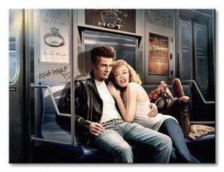 Subway ride - obraz na płótnie