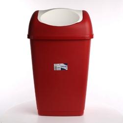 Kosz  pojemnik na śmieci tontarelli grace 50 l czerwony