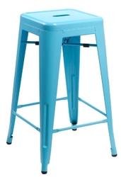Stołek barowy paris 66cm inspirowany tolix - 66  niebieski