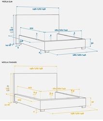 Łóżko tapicerowane sierra 180x200 cm