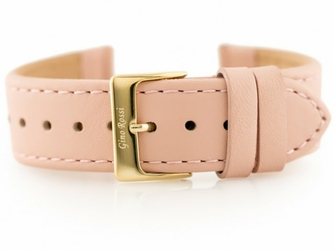 Pasek skórzany do zegarka - GINO ROSSI - gładki II - morelowy - 20mm