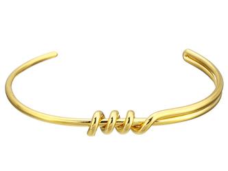 Bransoletka ze stali nierdzewnej złoty splot - złoty