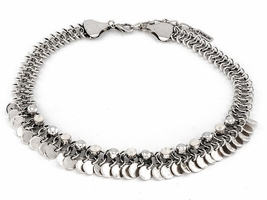 Kolia naszyjnik srebrna małe kółka cyrkonie