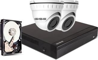 Zestaw, 2x kamera 8mpx, rejestrator 4ch + 1tb - szybka dostawa lub możliwość odbioru w 39 miastach