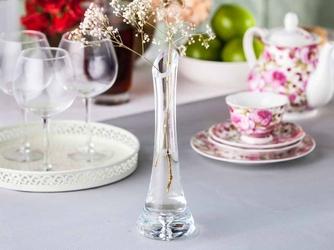 Wazon szklany na kwiaty z łezką edwanex 25 cm