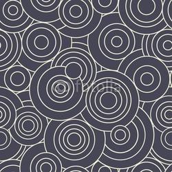 Obraz na płótnie canvas czteroczęściowy tetraptyk zarys kręgów