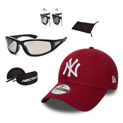 Okulary przeciwsłoneczne fotochromowe arctica + czapka z daszkiem new era ny bordo - 32082