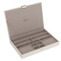 Pudełko na biżuterię z pokrywką supersize Stackers waniliowo-kawowe