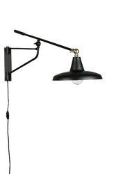 Dutchbone lampa ścienna hector czarna 5400031