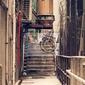 Fototapeta messy side uliczka w hong kongu