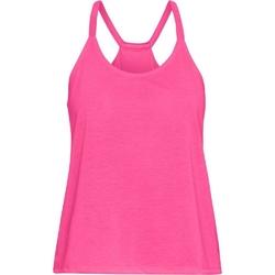 Koszulka damska under armour whisperlight tank foldover - różowy