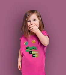 Breaking bed jrry t-shirt dziecięcy różowy 146