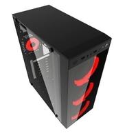 Gembird obudowa midi tower fornax 1500r czerwona