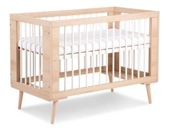 Łóżeczko dziecięce na drewnianych nóżkach sofie 120x60 buk