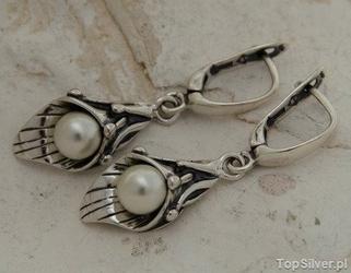 Emma - srebrne kolczyki z perłą