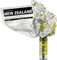 Mapa Crumpled City Nowa Zelandia