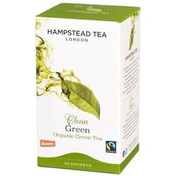 Hampstead   clean green tea - herbata zielona saszetki 40g   organic - fairtrade