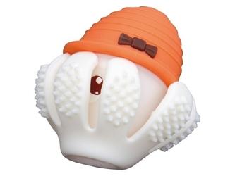 Pomarańczowa ośmiornica silikonowy gryzak