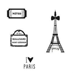 Zestaw dekoracyjnych stempli - Paryż - PRZ