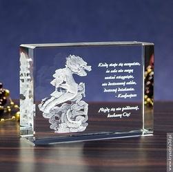 Smok Orientu 3D • personalizowany kryształ 3D • GRAWER 3D GRATIS