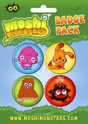 Moshi Monsters Monsters - zestaw 4 przypinek