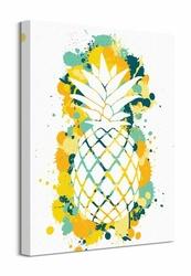 Splatter Silhouette Pineapple - obraz na płótnie