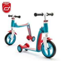Highwaybaby plus hulajnoga trójkołowa  i rowerek biegowy 2w1 dla dzieci 1+ - niebieski