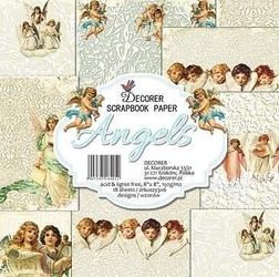 Papier do scrap. 20,3x20,3 Angels 18 szt.