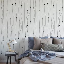 Dots lines - tapeta ścienna na wymiar , rodzaj - próbka tapety 50x50cm