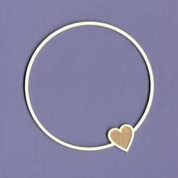 Ramka z sercem - okrągła 7x7,5 cm - 02