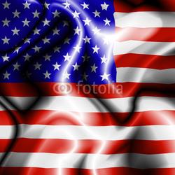 Plakat na papierze fotorealistycznym Bandiera stati uniti-united states flag-flag stany zjednoczone