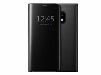 Etui Clear View cover Samsung Galaxy J5 2017 Czarne + Szkło - Czarny