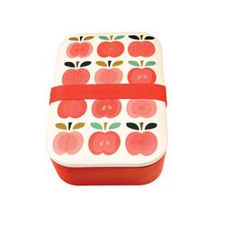 Lunchbox bambusowy w stylu vintage, Jabłuszka, Rex London - jabłuszka