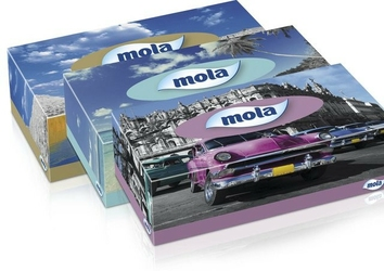 Mola, chusteczki kosmetyczne, kartonik 120 sztuk