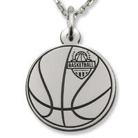Wisiorek srebrny piłka do koszykówki-1