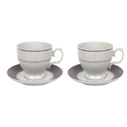 Filiżanki do kawy porcelana mariapaula sissi 220 ml, komplet 2 filiżanek