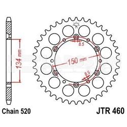 Zębatka tylna stalowa jt 460-42, 42z, rozmiar 520 2300756 kawasaki kx 500, kx 250
