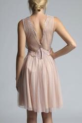 Soky soka  sukienka beż 600017-2