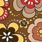 Obraz na płótnie canvas czteroczęściowy tetraptyk retro kwiaty