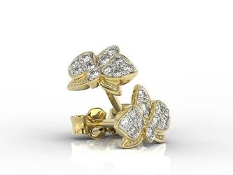 Kolczyki z żółtego złota z diamentami bpk-45z-r