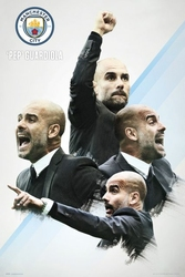 Manchester City Pep Guardiola - plakat