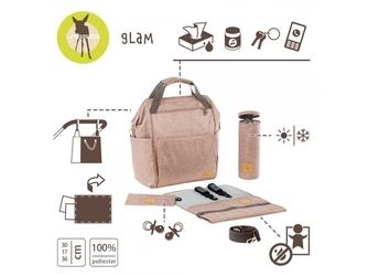 Różowy plecak do wózka z akcesoriami glam label