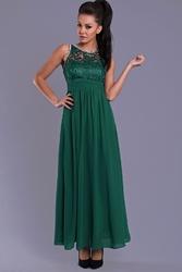 Evalola sukienka- butelkowa zieleń 7815-10