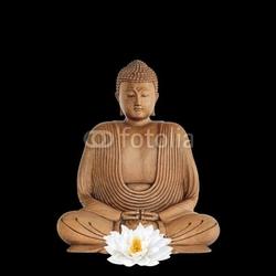 Obraz na płótnie canvas trzyczęściowy tryptyk budda modlący się