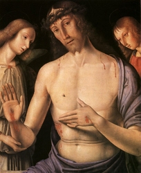 Reprodukcja christ supported by two angels, rafael santi, raphael